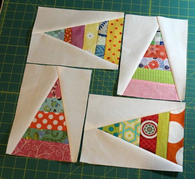 Scrappy Triangle blocks for Debbie/Blue.Ridge.Girl