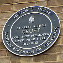 Photo of Charles Alfred Cruft green plaque