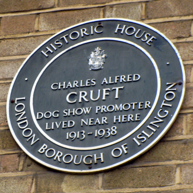 Photo of Charles Cruft green plaque