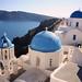 Blue Domes of Santorini by Kenneth J. Garcia