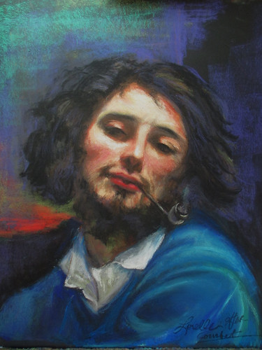 Courbet Self Portrait, by Lorelle by elle3b