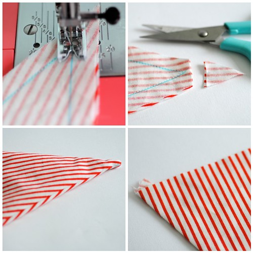 Making bunting - Steps 5-8