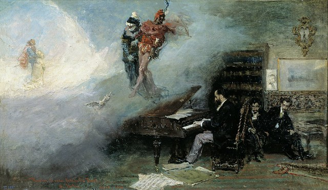 Fortuny, Mariano (1838-1874) - 1866 Fantasy on Faust (Prado Museum, Madrid, Spain)