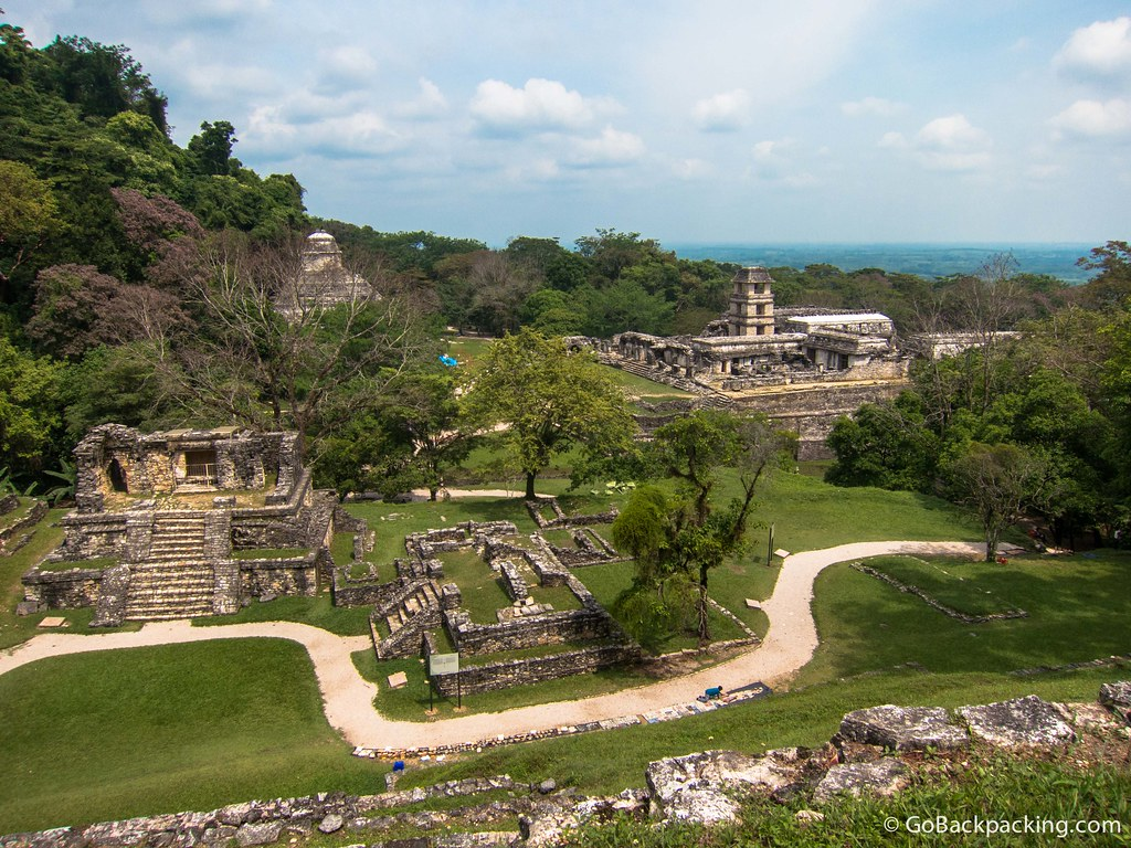 View of Palenque from atop the Temple of the Cross