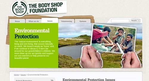 BODYSHOP是英國消費者心目中,最注重生物多樣性保育的企業之一。圖片來源:BODYSHOP基金會網頁截圖