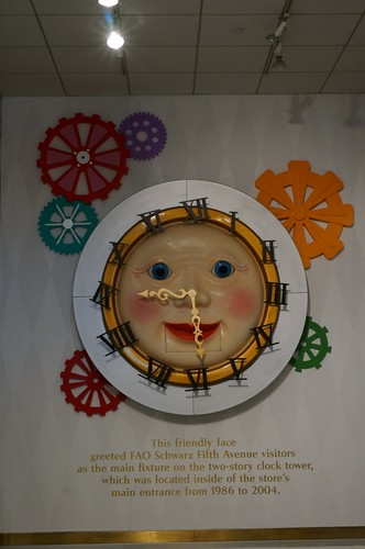 Clock face at FAO Schwarz
