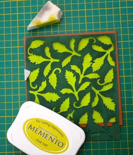 Spellbinders homemade stencil