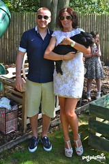 Jamie O'hara & Danielle Lloyd with Micro Pig from Petpiggies