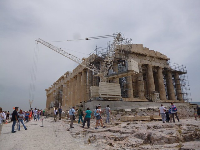 Pathenon being refurbished