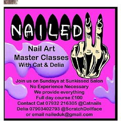 Wanna be a badass nail tech, go learn from the best. @scratchdollface @catnails #nails #nailart #badbitch #learnsomething #doit