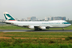 B-LIA Boeing 747-467ERF Cathay Pacific Cargo Rolling for Take Off