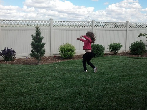 Dancing in the backyard