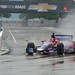 Marco Andretti runs in the rain