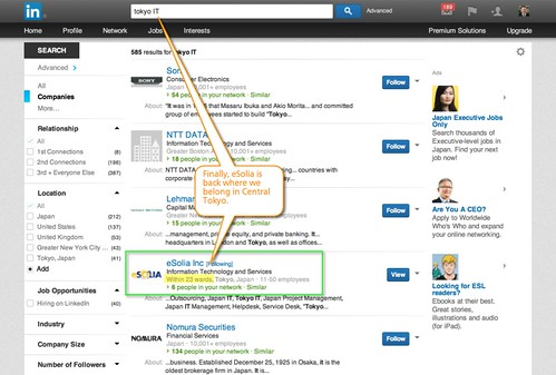 Screenshot showing how Linkedin Finally Fixed the Tokyo Location Bug.