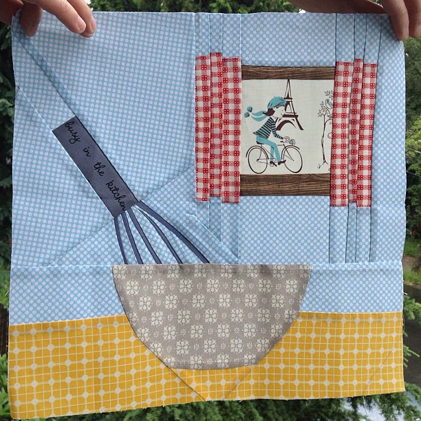 Ringo Pie block for Charise--Paris theme.  Gave it to her in person when I was in Seattle.