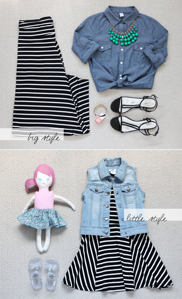 Big / Little Style: black & white stripes