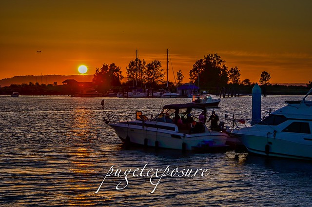 Jetty Island Sunset