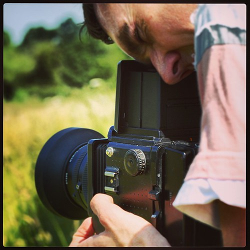 Me in action shooting the Mamiya RZ67 medium format film camera! by MatthewOsbornePhotography_