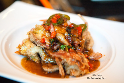 Wok soft shell crabs