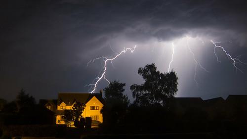 uk storm night northamptonshire lightening addington