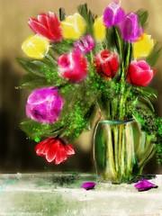 Tulips- watercolor challenge