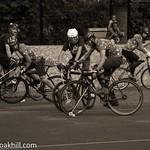 Goalmouth action, London Open Bike Polo Tournament, Highbury Fields
