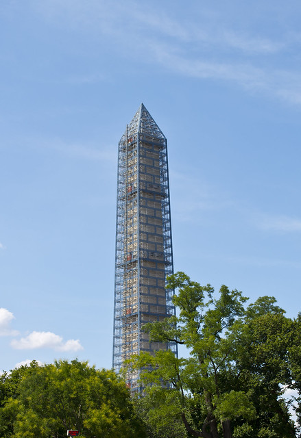 Washington Monument under repair - 2013-08-25