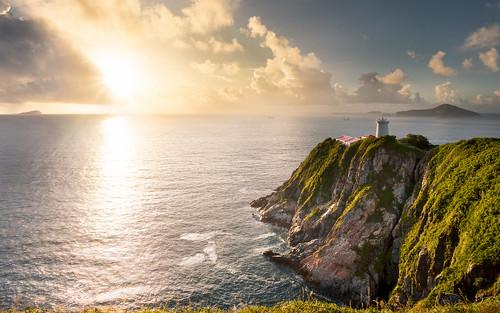 sea sun seascape sunrise canon landscape hongkong sunstar 5dmarkiii