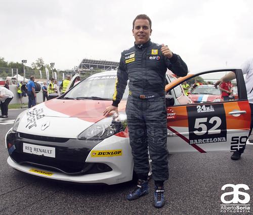 Jordi Solà, piloto del Solà Sport durante el primer turno de las 24Horas Barcelona 2013