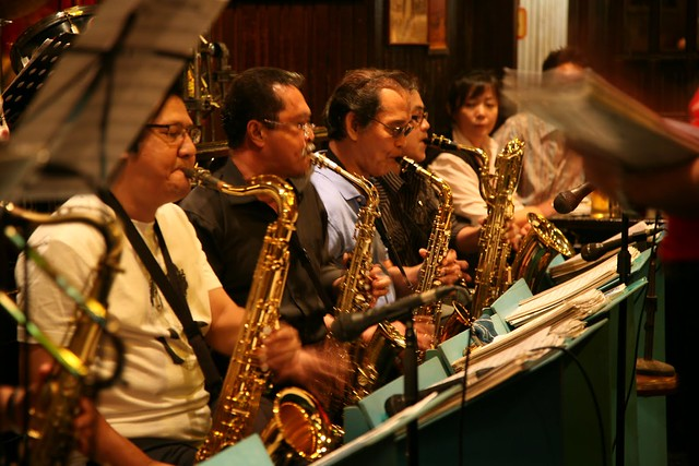 The saxophone section. 12th, October, 2008