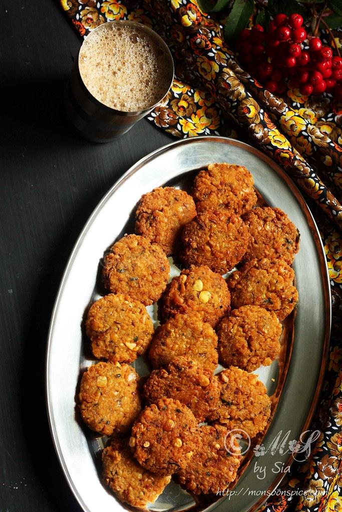 Chattambade Recipe | Spicy Chana Dal Vada Recipe - Monsoon Spice ...