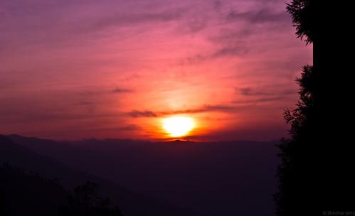 Sunset from Lamahatta