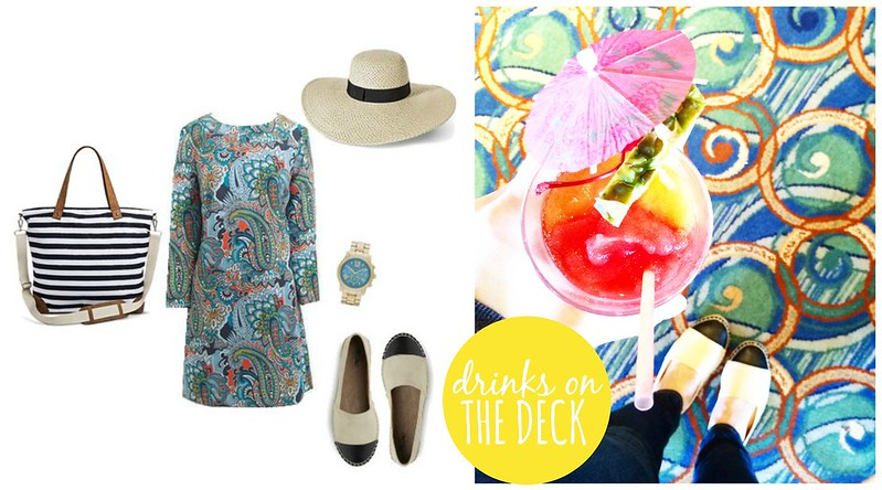 drinks on the deck dressy cruise outfit