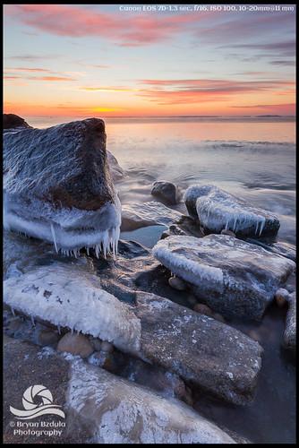 winter seascape ice sunrise massachusetts newengland westport dartmouth subzero allenspond allenspondwildlifesanctuary westporttownbeach