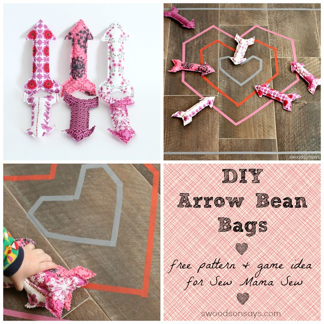 Free Valentine's Sewing Pattern Arrow Bean Bags