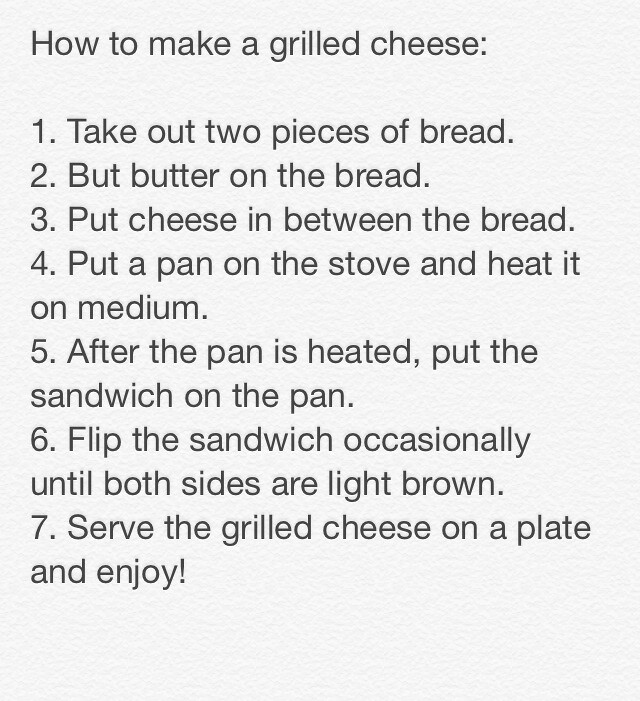 grilled cheese directions
