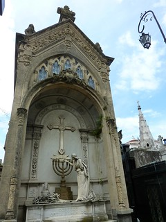 menorah and cross