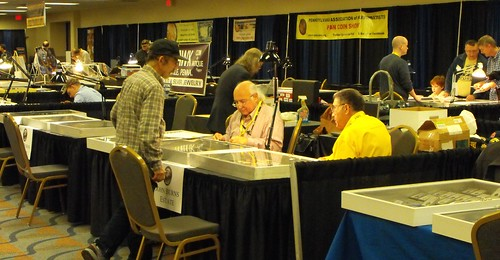 Ed Krivoniak and Don Carlucci selling Burns estate items at OCT-2014 PAN Show