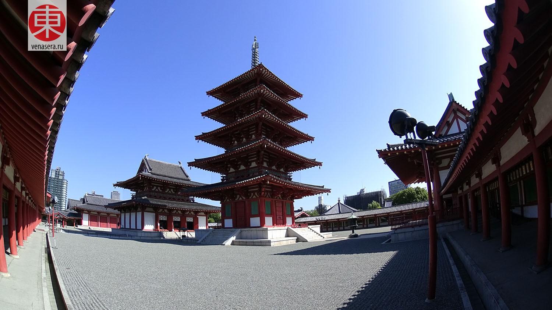 Пятиэтажная пагода (五重塔). Пять уровней олицетворяютпять элементов: земля, воздух, огонь, вода и небо.