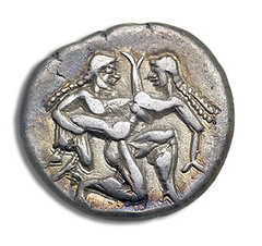 satyr on coin
