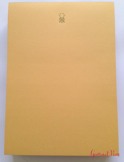 Review Le Typographe Fine Paper Writing Bloc - A5 Beetle Chamois @NoteMakerTweets (2)