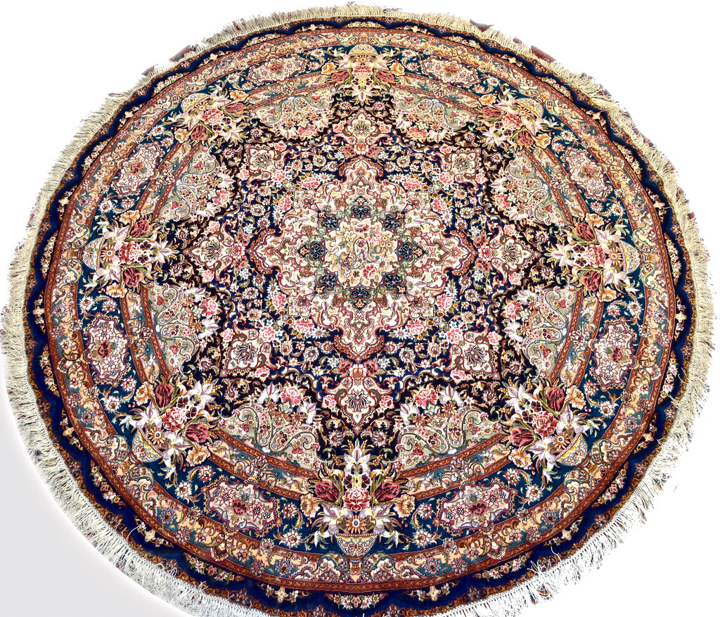 Salari Master Piece 7x7 Persian Area Rug Very detailed Tabriz Rug (10)