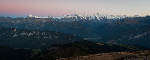 morning autumn panorama mountains alps fall nature sunrise schweiz switzerland morninglight swiss herbst natur peak summit bern alpen eiger morgen wandern jungfrau beforesunrise mönch berneroberland jungfrauregion schreckhorn wetterhorn breithorn wilderswil mauntain beatenberg gemmenalphorn bödeli vorsonnenaufgang