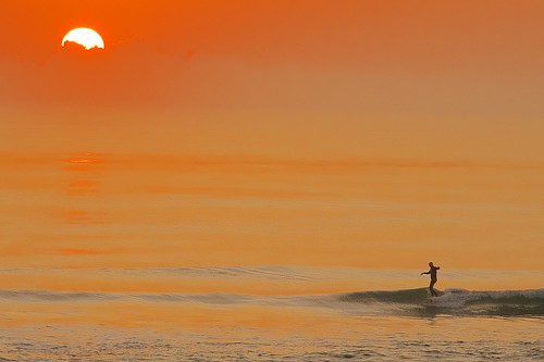 ocean beach sunrise dawn surf florida surfer surfing indialantic