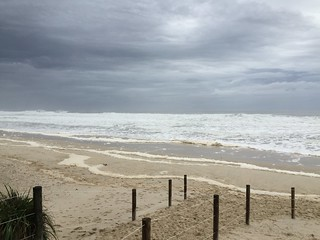 Stormy sea at South Golden Beach