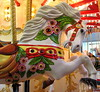 IMG_7222 Pink Flowered Carousel Horse