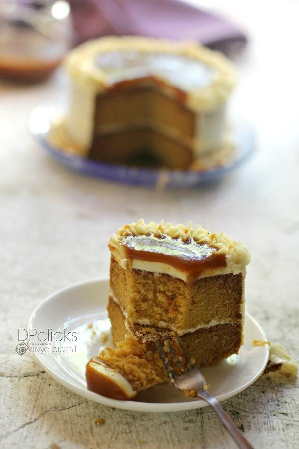 Butterscotch Cake | Butterscotch Sponge | Butterscotch Cake Using ...