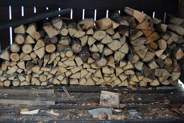 Woodpile is getting rather low by Eve Fox, The Garden of Eating, copyright 2015