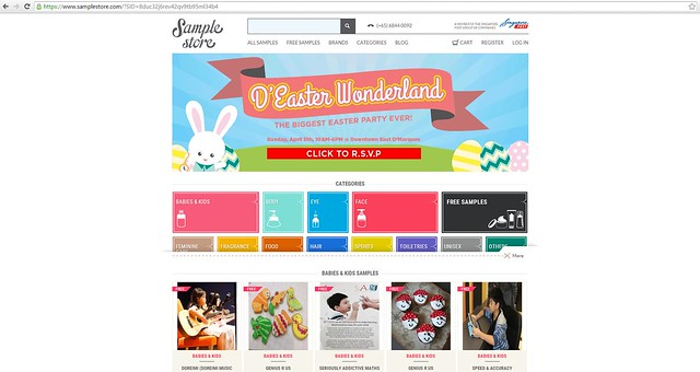 Sample Store homepage