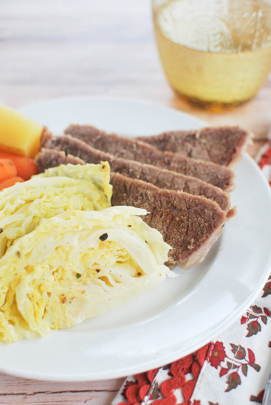 Crockpot Corned Beef and Cabbage - the perfect St. Patrick's Day dinner!